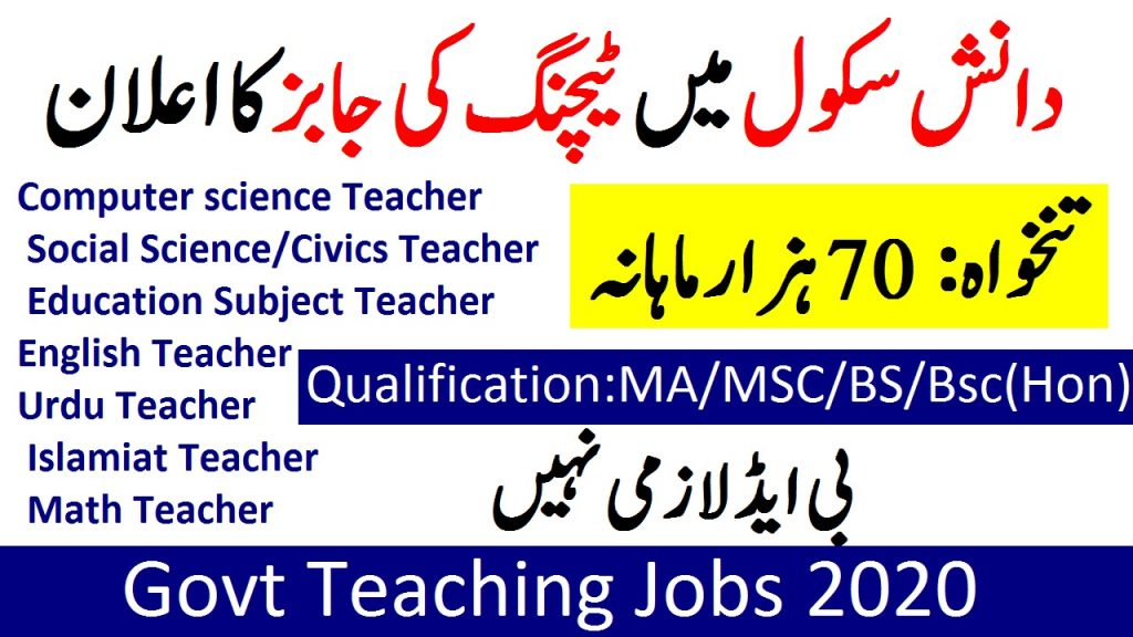 danish school teaching jobs 2020 Punjab Danish School Teaching Jobs 2020 Application