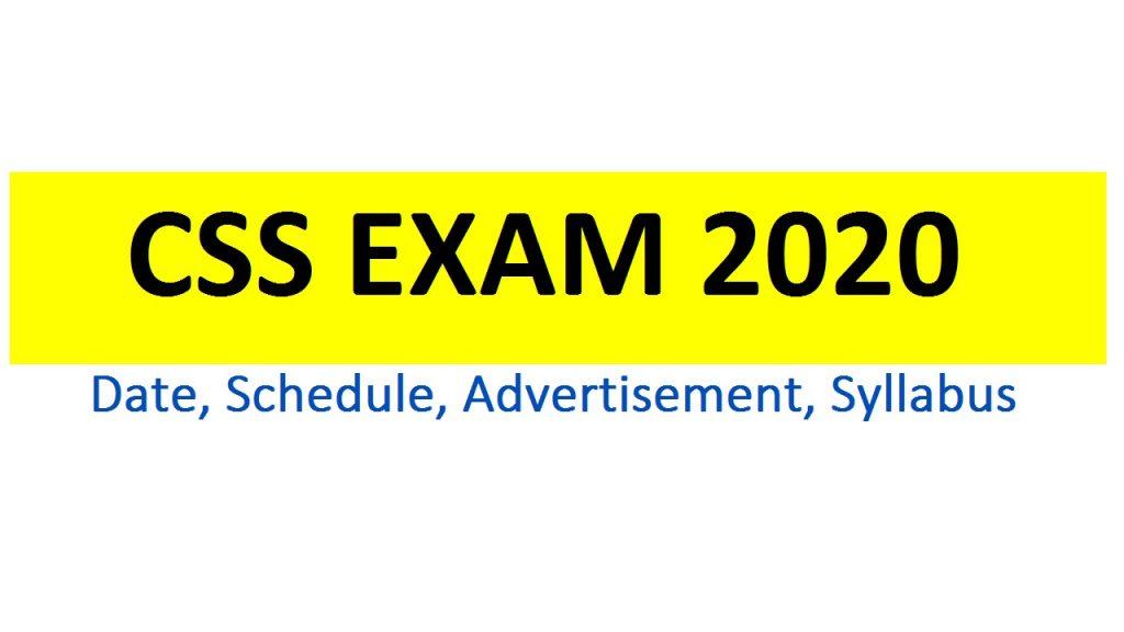 css exam 2020 schedule