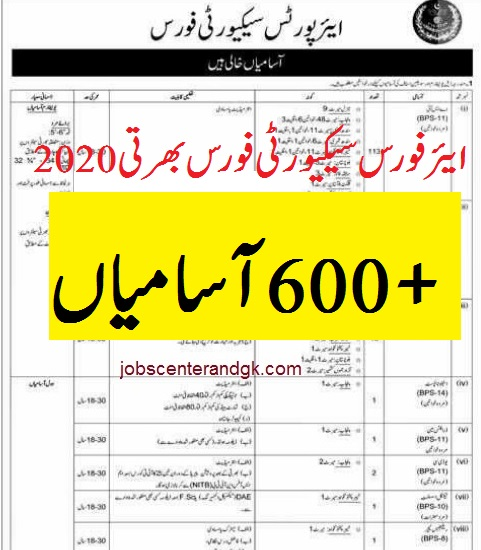 ASF jobs 2020 apply ASF Jobs 2020 Application Form Airport Security Force New Jobs