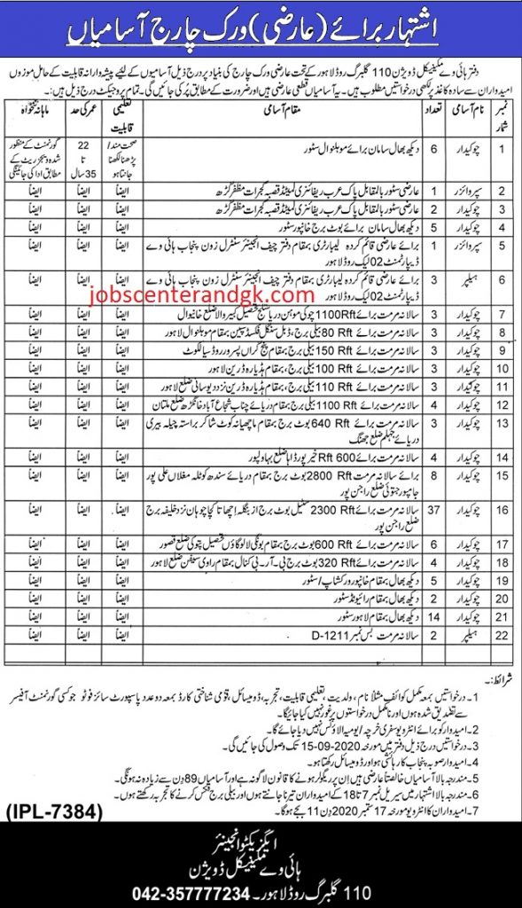 Advertisement National Highway Mechanical Division Jobs 2020