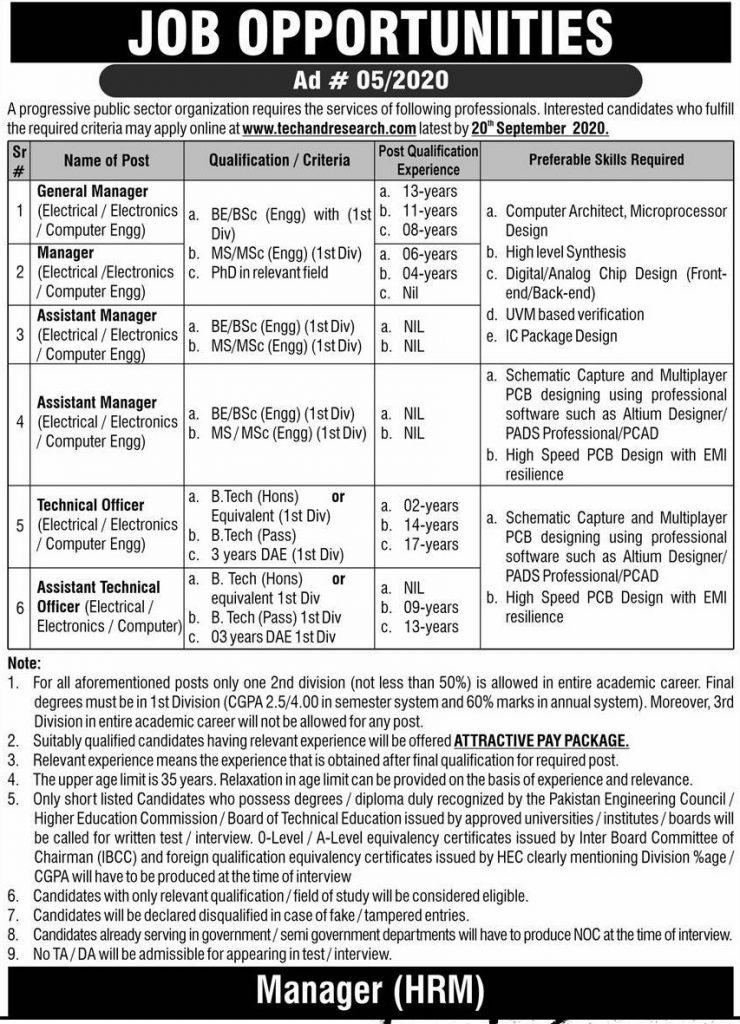 Pakistan Atomic Energy Commission PAEC Jobs 2020 ad