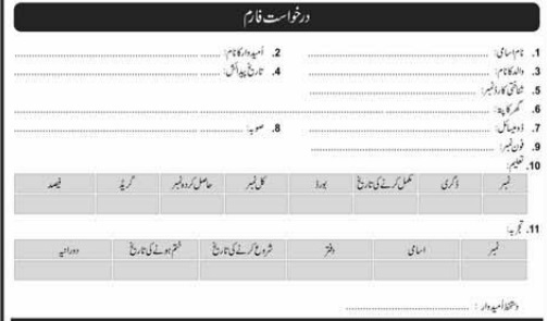 central ordinance depot Lahore jobs 2020 download application form