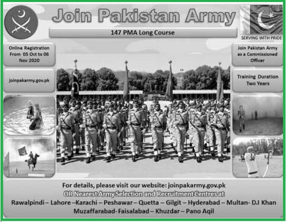 Join Pak Army As Commissioned Officer Through 147 PMA Long Course ad