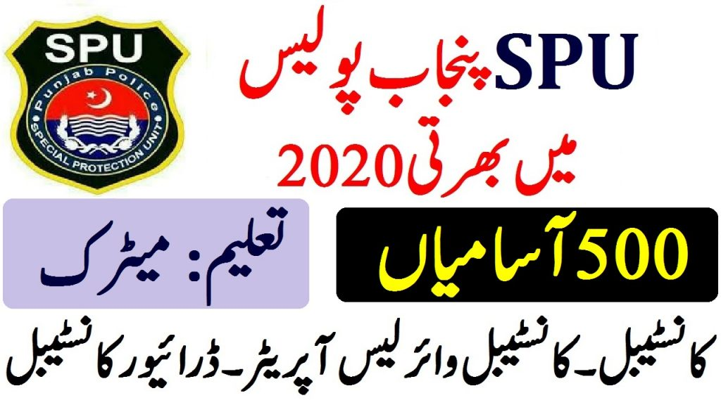 Latest SPU Punjab Police Jobs 2020 ad