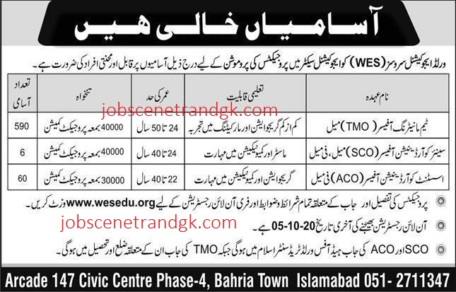 WES World educational services jobs 2020