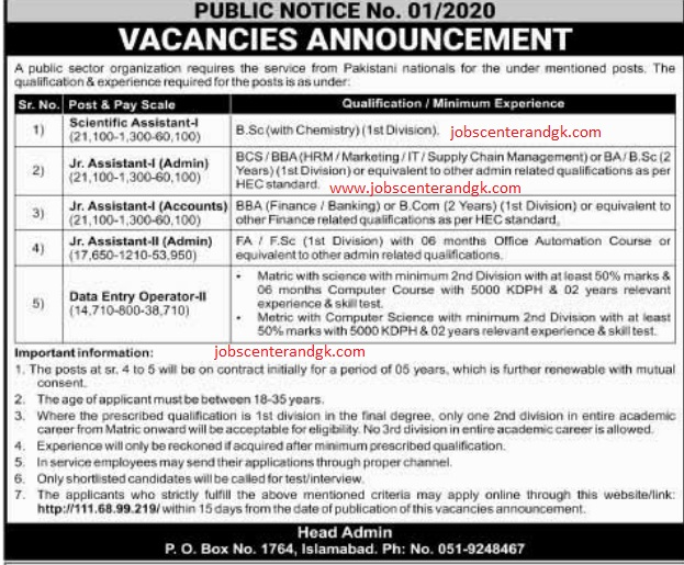 PAEC atomic energy commission jobs 2020 ad