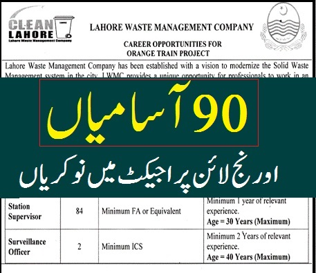 today jobs in Pakistan advertisement 2 Lahore Waste Management Company LWMC Jobs 2020 Online Apply