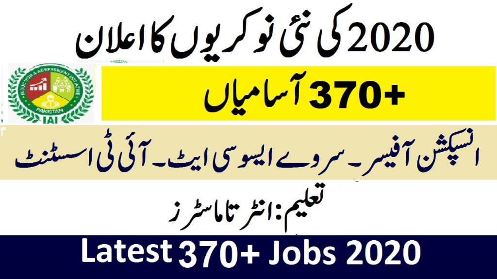Induction And Assessment Initiative Latest New Jobs 2020