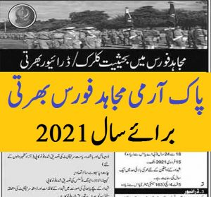 new jobs in mujahid force 2021 ad