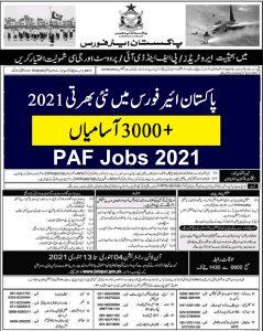 pakistan air force jobs January 2021