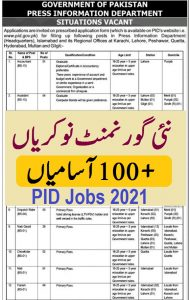 today jobs in Pakistan 2021