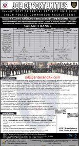 Karachi region SSU advertisement