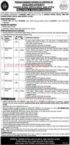 Punjab Danish school jobs 2021 advertisement