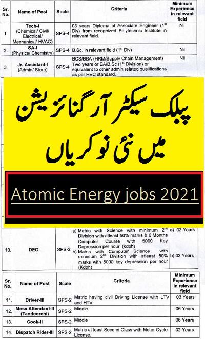 atomic energy jobs 2021 advertisement