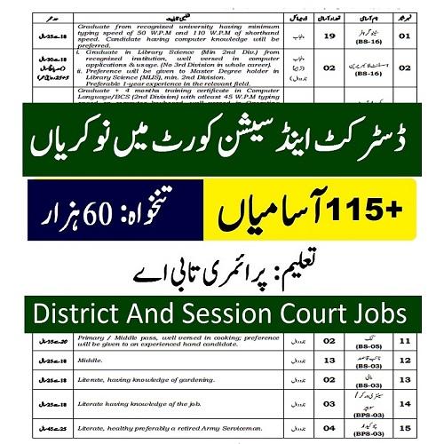DSC sargodha Jobs
