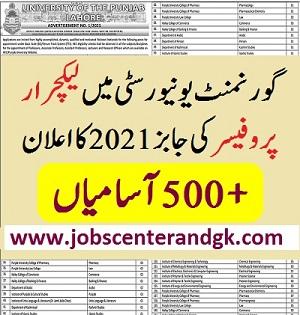 PU Lecturer jobs 2021