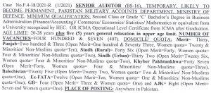 Senior auditor syllabus 2021