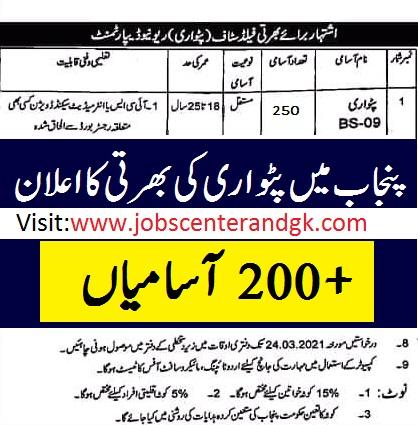 Patwari vacancies advertisement