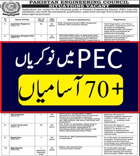 pec portal jobs 2021