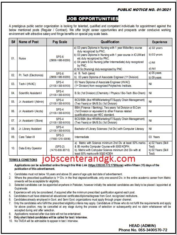 public sector organization jobs public notice 1 2021 jobs