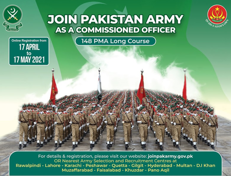 join pak army as commissioned officer 148 pma long course