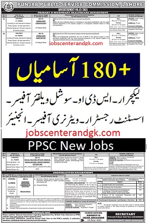 ppsc social welfare officer lecturer and sdo jobs 2021