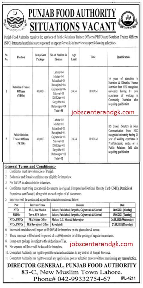 punjab food authority pfa new jobs 2021