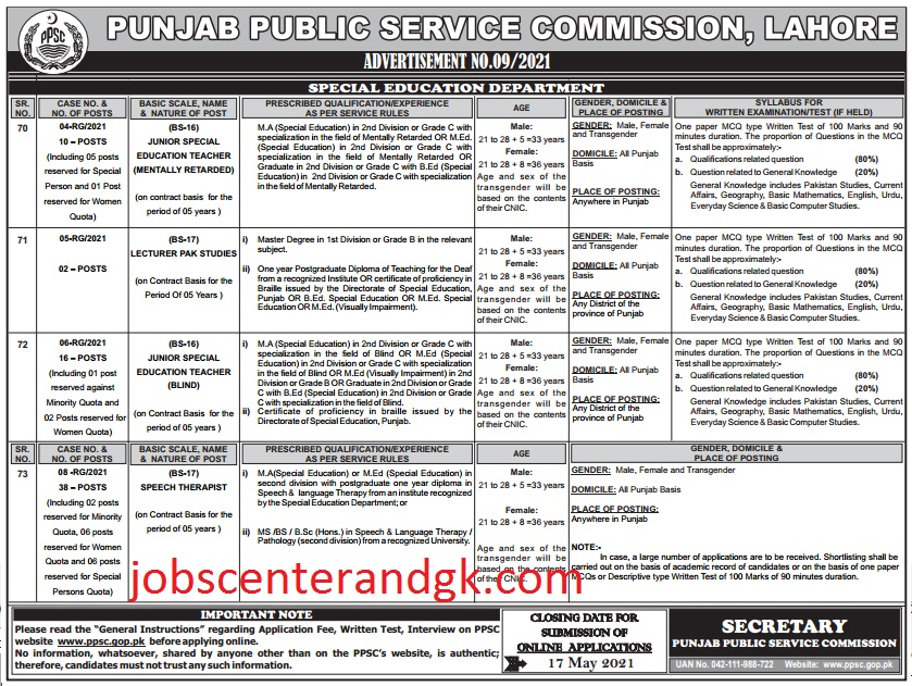 special education department jobs 2021 advertisement