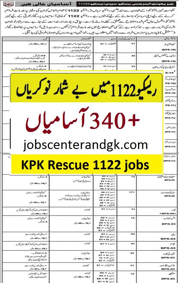 Rescue 1122 KPK jobs 2021