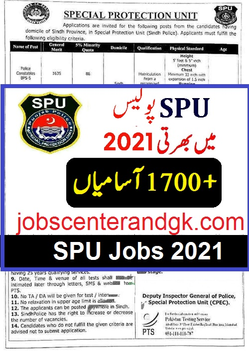 SPU Sindh Jobs 2021