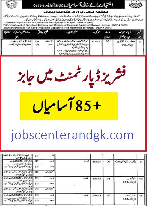 fisheries department jobs 2021