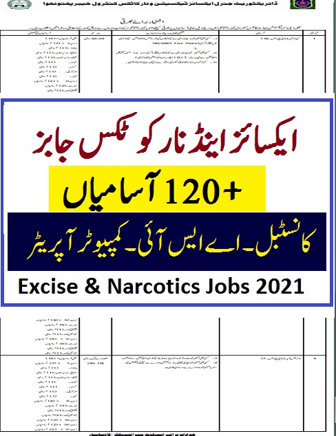 kpk excise and taxation jobs 2021 advertisement