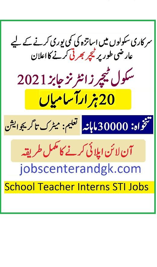 schools.punjab.gov.pk STI Jobs 2021 online apply - Jobs ...