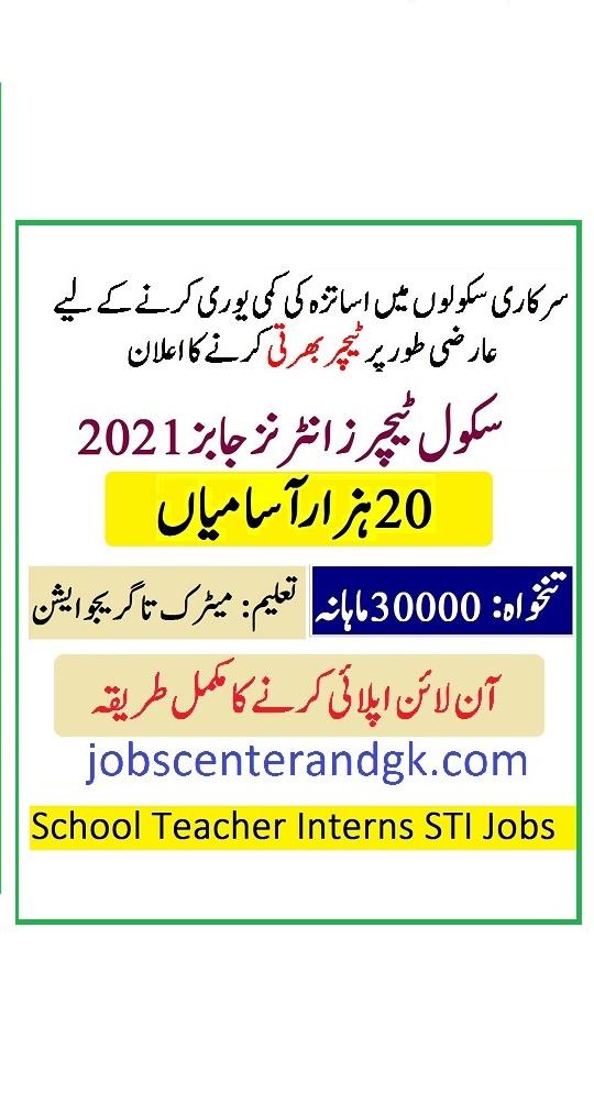 Punjab schools STI jobs 2021