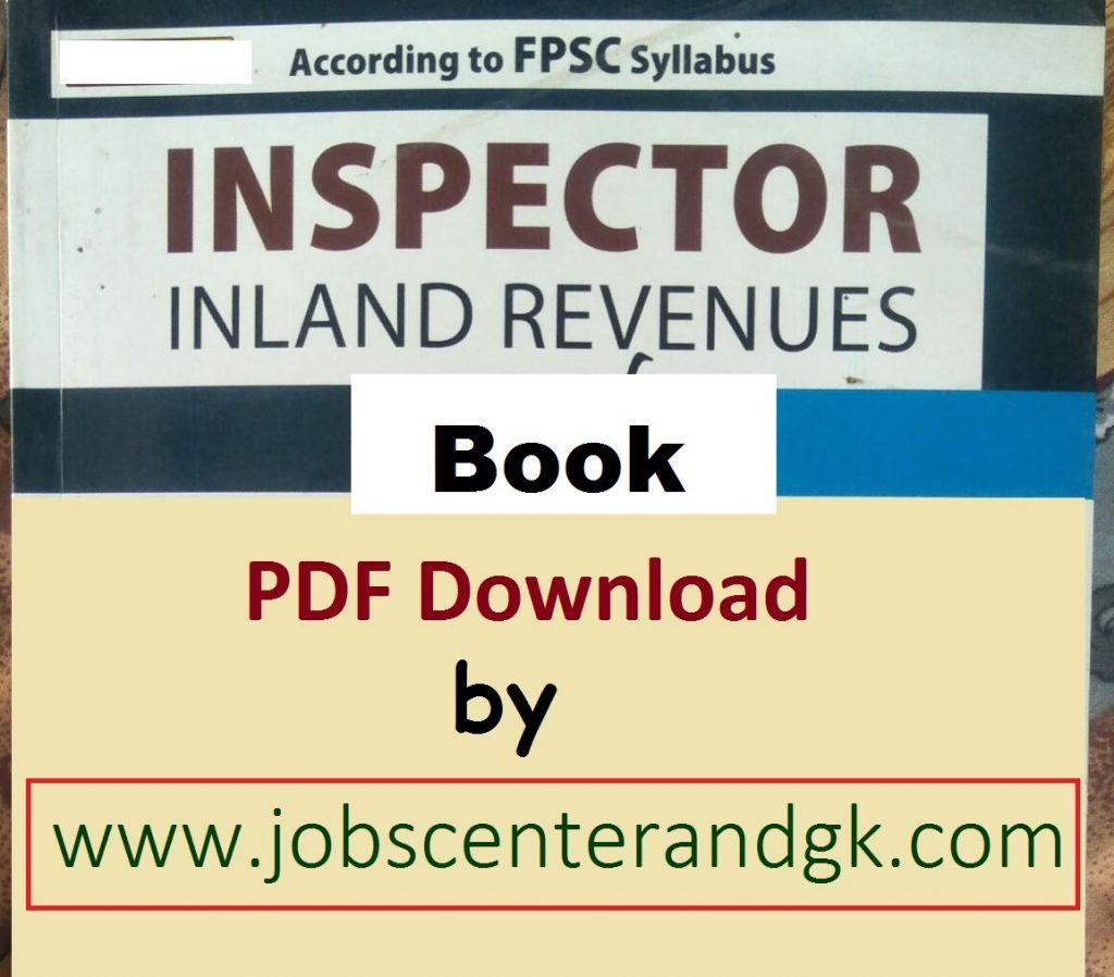 Inspector Inland Revenue book