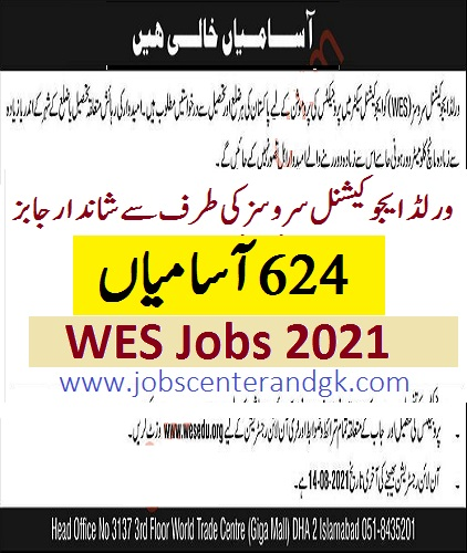 wes jobs 2021