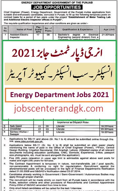 Energy department jobs 2021 apply online