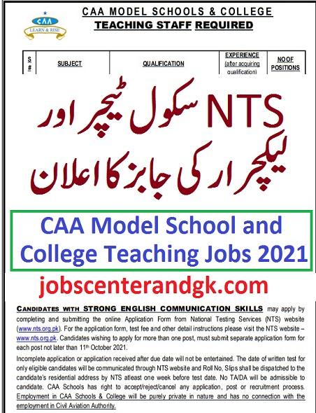 nts teaching jobs 2021 advertisement