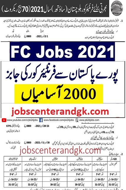 pak army FC jobs 2021 online registration