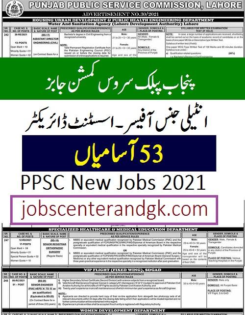 ppsc today jobs advertisement 30 2021